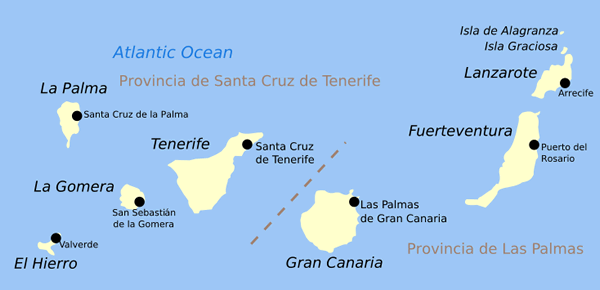 Îles Canaries Atlas
